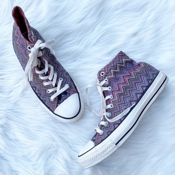 Converse X Missoni Chevron Chuck Taylor Sneakers